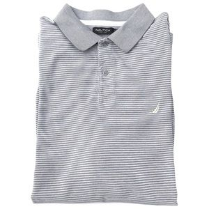 Nautica Striped 100% Cotton Polo Shirt.